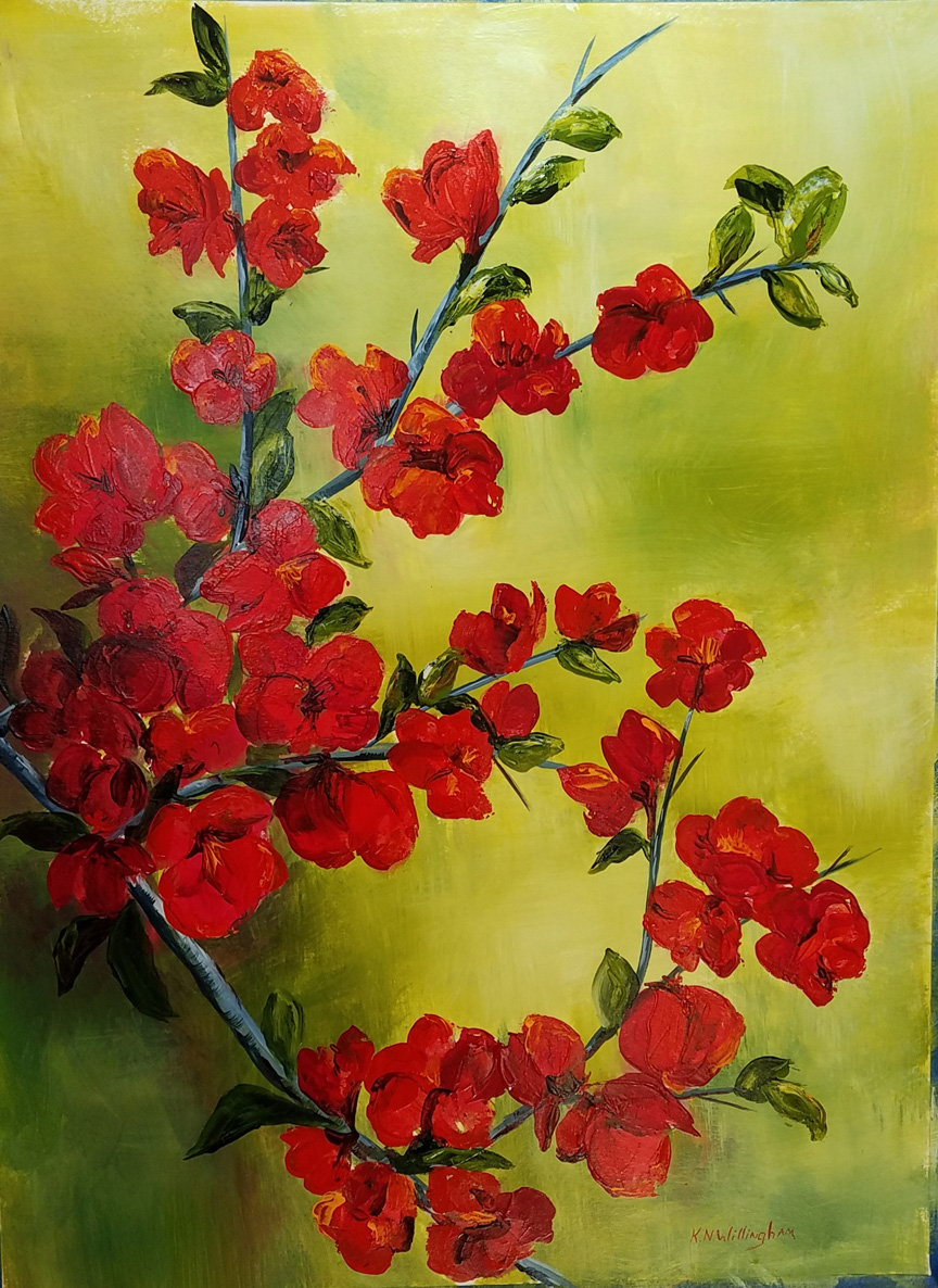 """Flowering Quince,"" by Kathleen Willingham."