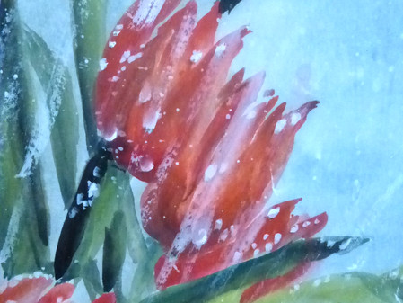"""April Showers; Spring Flowers"" Feature Work by Carol Waite"