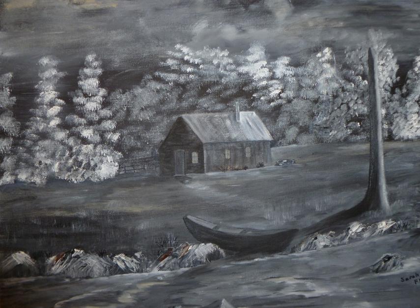 Cabin in Moonlight, Sarah Flinn