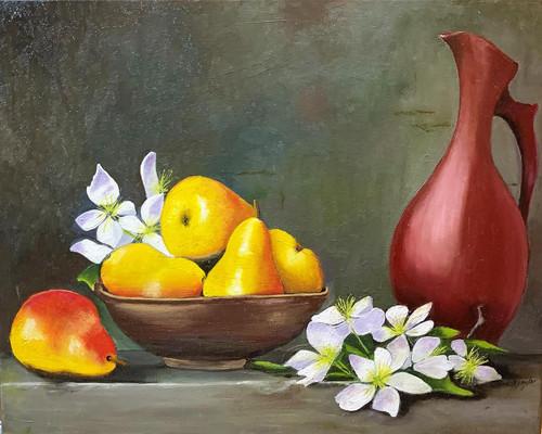 D.R.Taylor, Pears, 16x20x2, oil, $200.-1