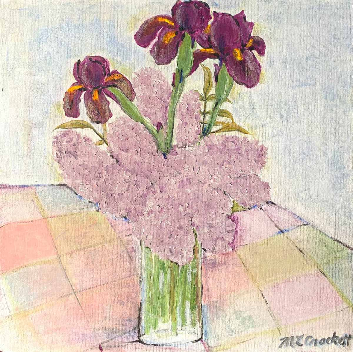 """Irises Lilacs,"" by Megan Crockett."