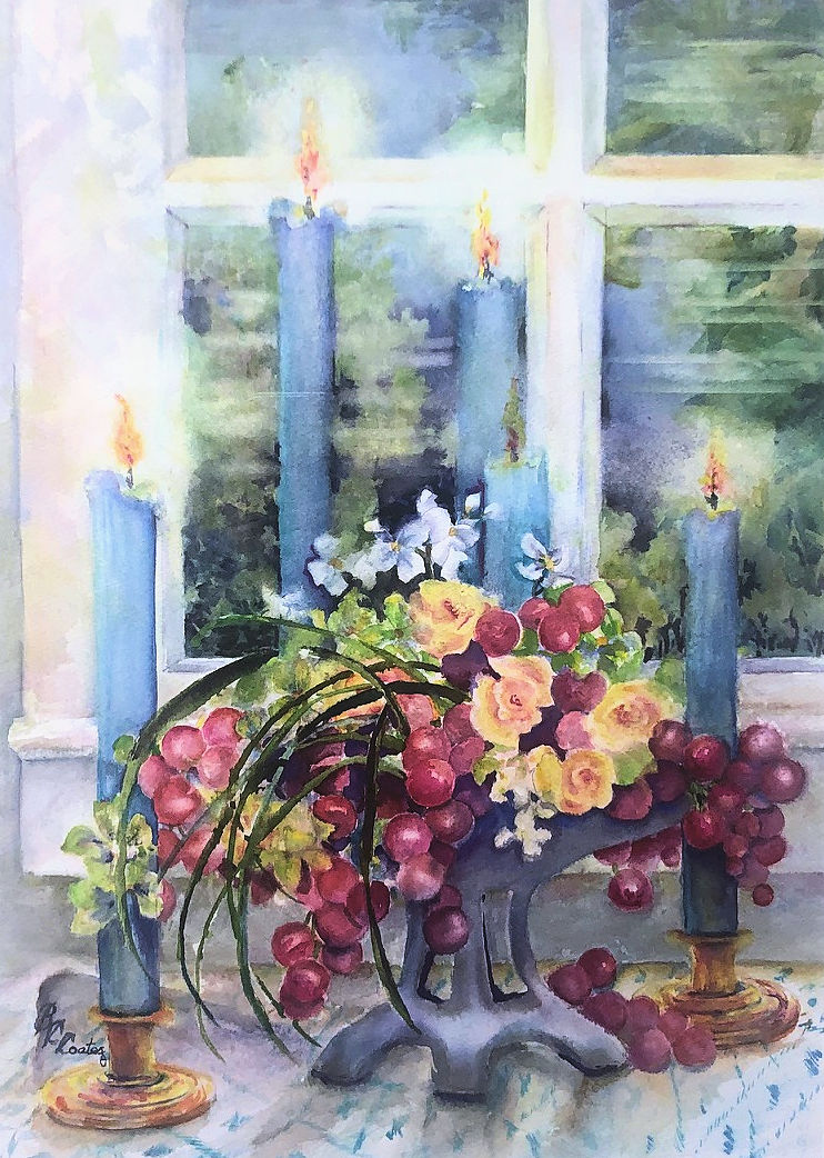 """Blue Candles,"" by Beverley Coates."