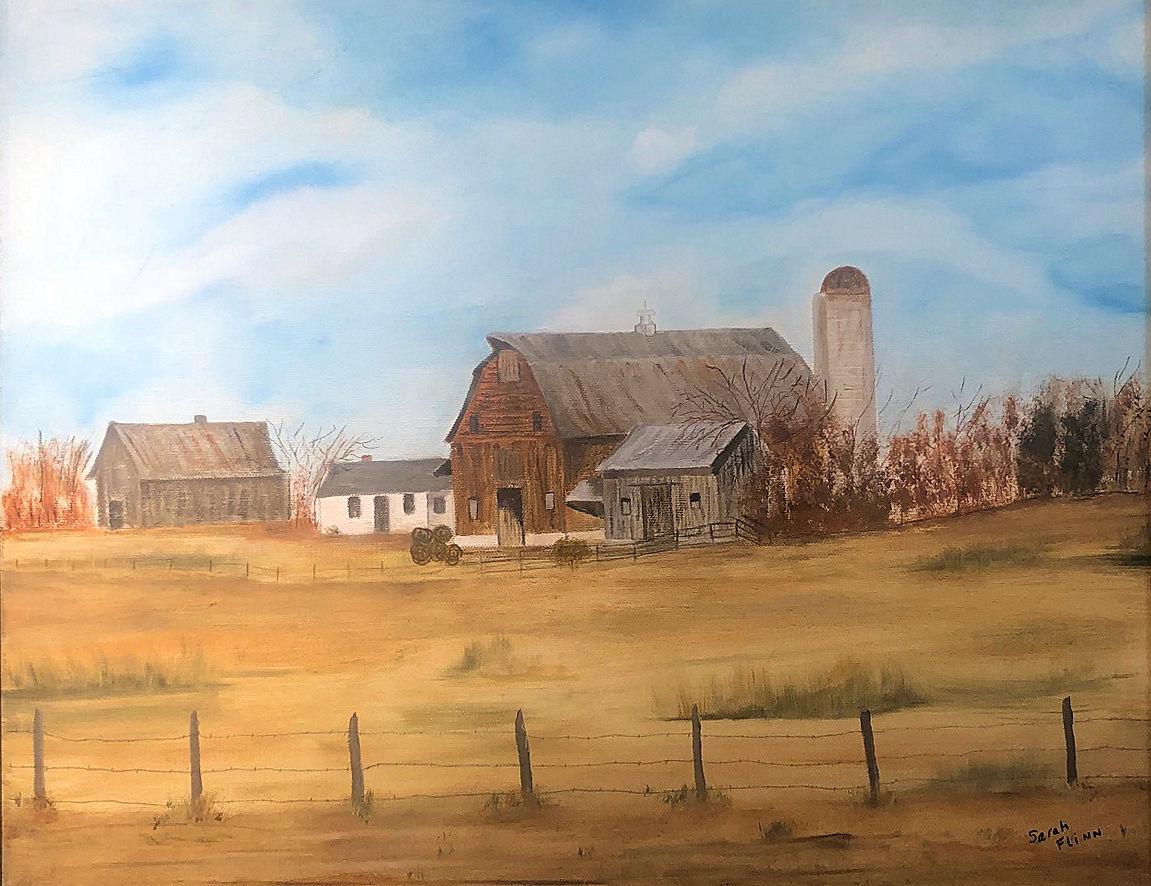 """""""Courthouse Road Farm,"""" by Sarah Flinn."""