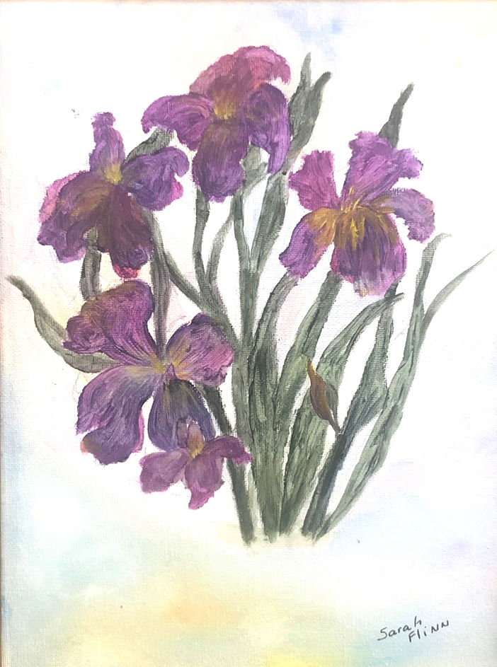"""Purple Iris,"" by Sarah Flinn."