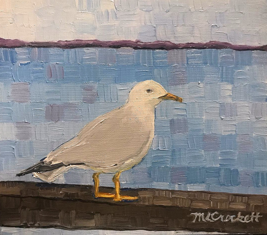 """Seagull,"" by Megan Crockett."