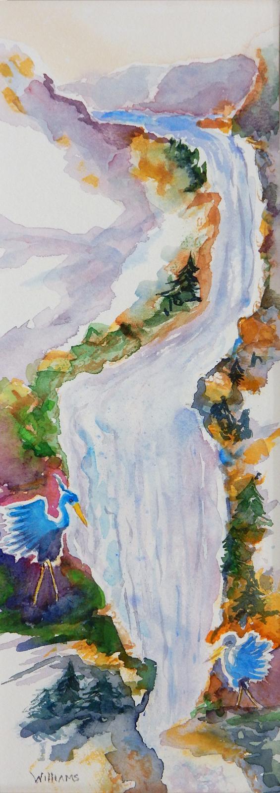 Winter Waterfall, Nancy M Williams