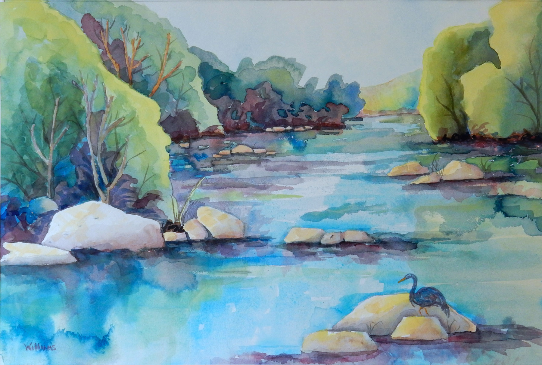 Nancy Williams_ Lazy River Day_watercolo