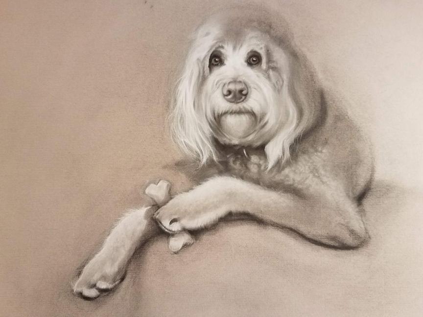 """""""Chewy,"""" by Carol Haynes."""