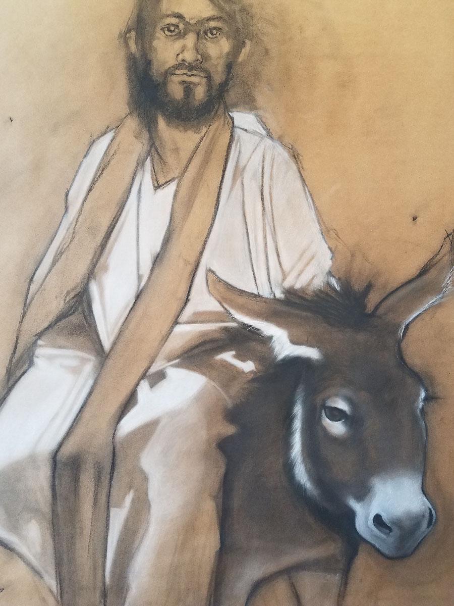 """""""Jesus Donkey"""" by Carol Haynes"""