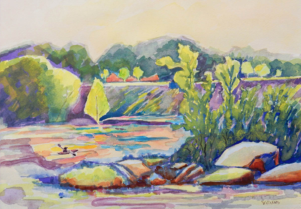 """Downstream Peddler,"" by Nancy Marie Williams."