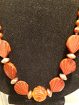 Red Carved Coral necklace