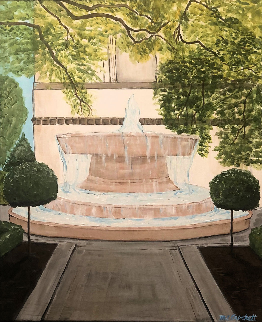"""Respite Fountain,"" by Megan Crockett."