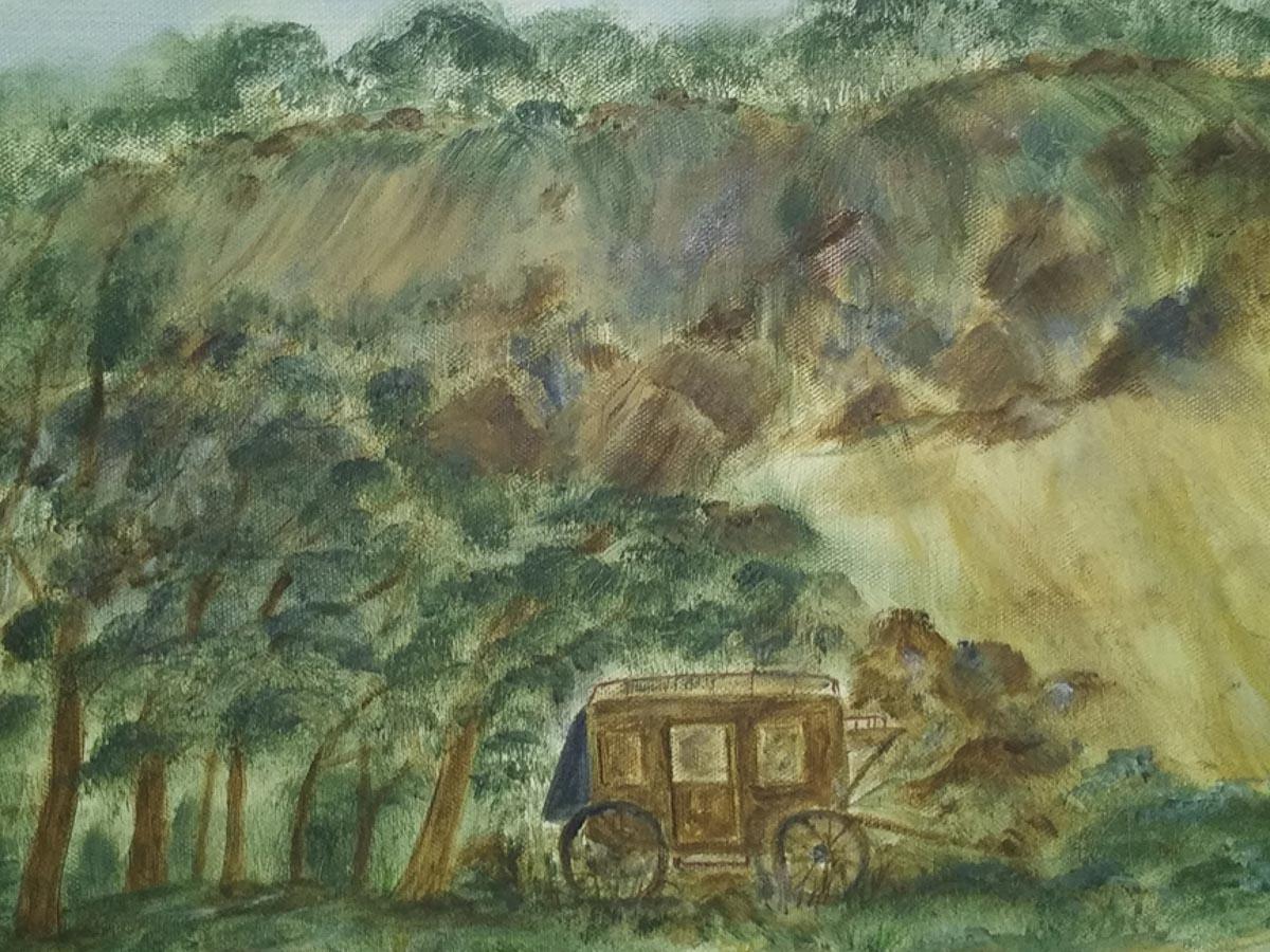 """""""Old Stagecoach"""", by Sarah Flinn"""