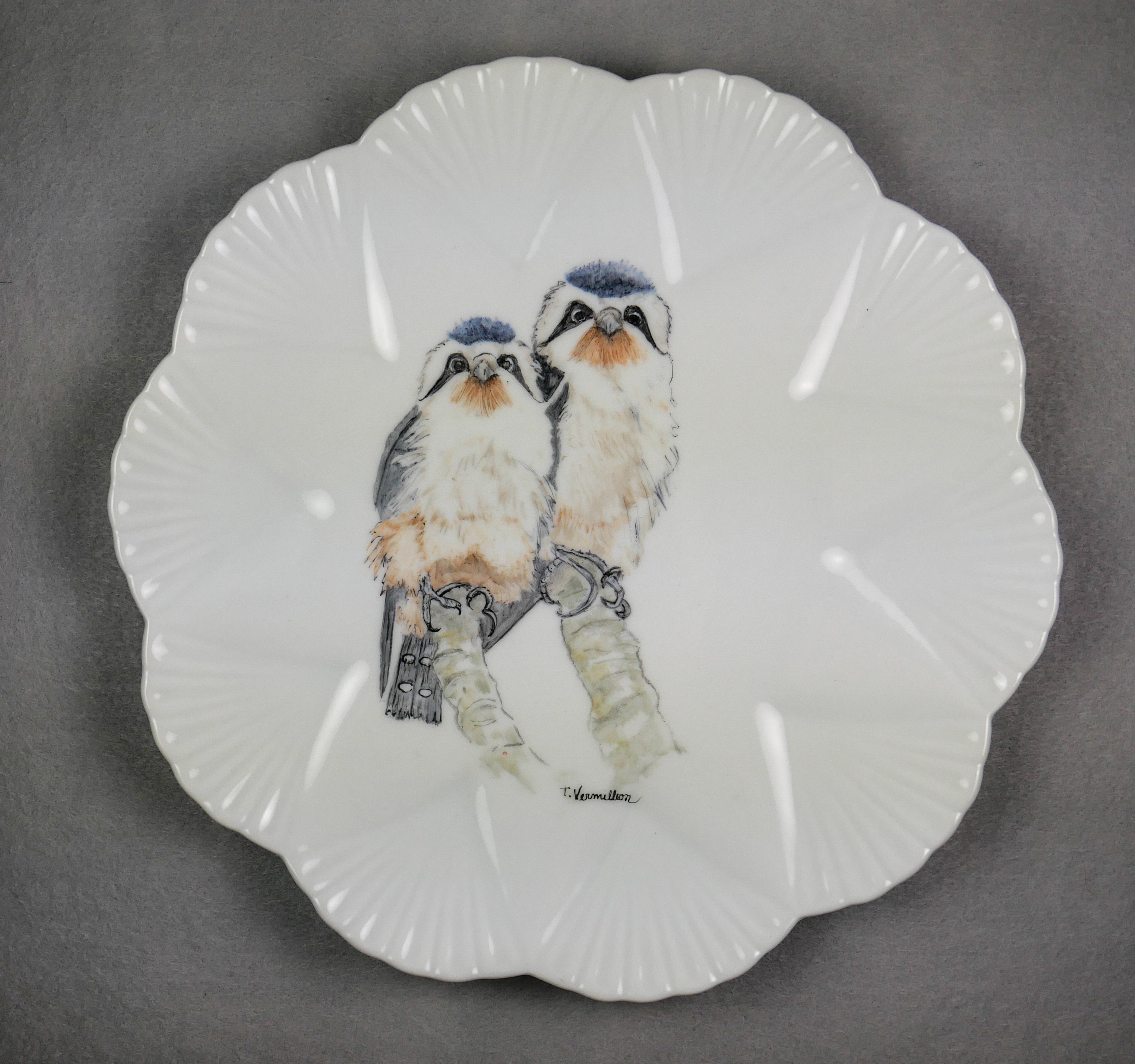 """Birds of a Feather, Bird Plate,"" by Trish Vermillion."