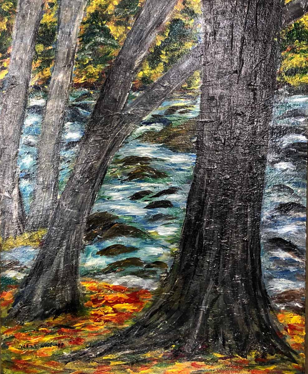 """Autumn on the River"", by Norma Woodward"