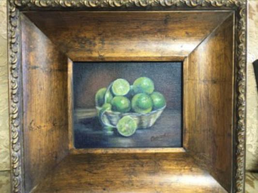 Denise Denecke_Lime Basket_oil on canvas