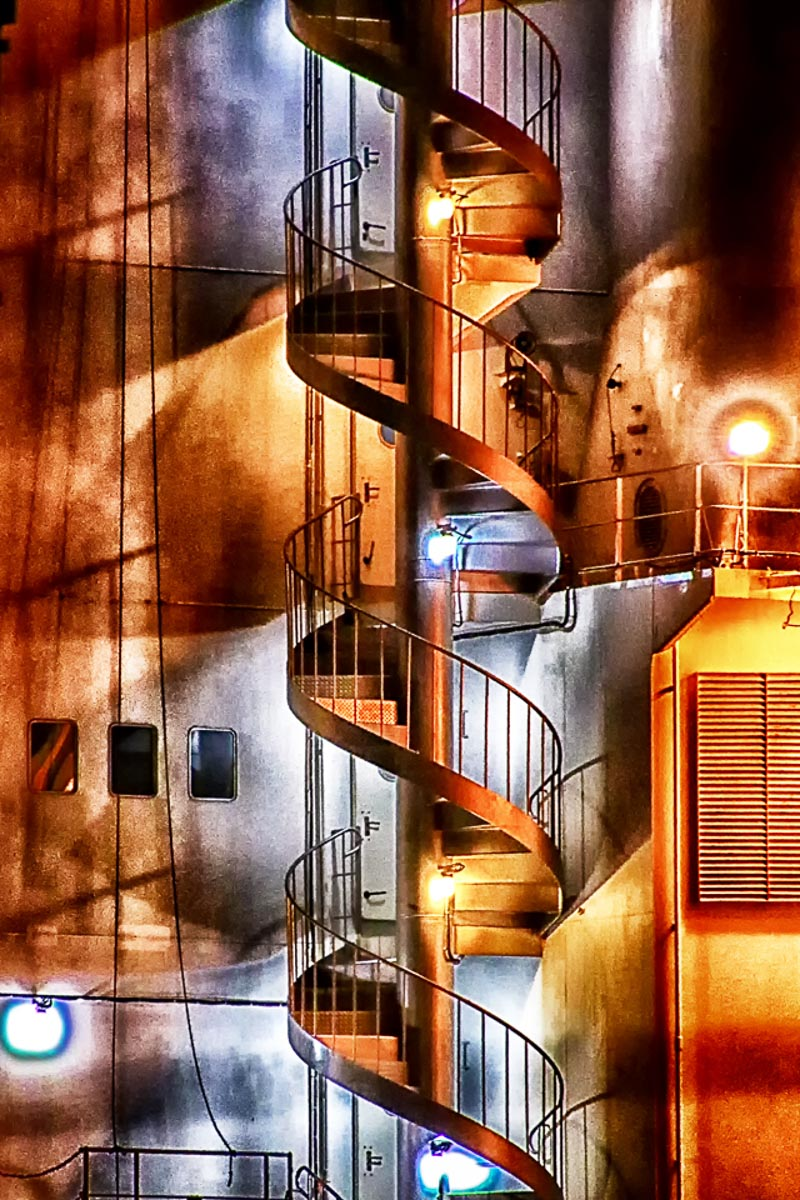 """Spiral Staircase"" by Norma Woodward"