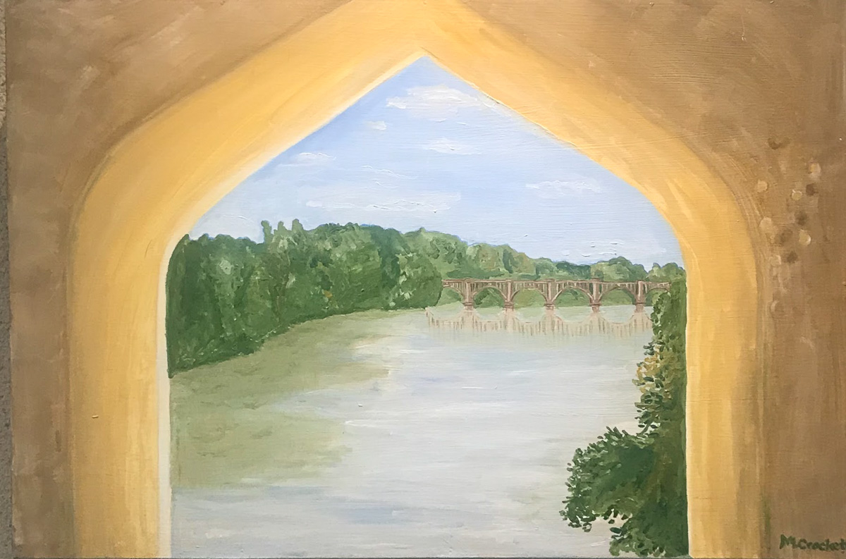 """Railroad Bridge"", by Megan Lee Crockett"