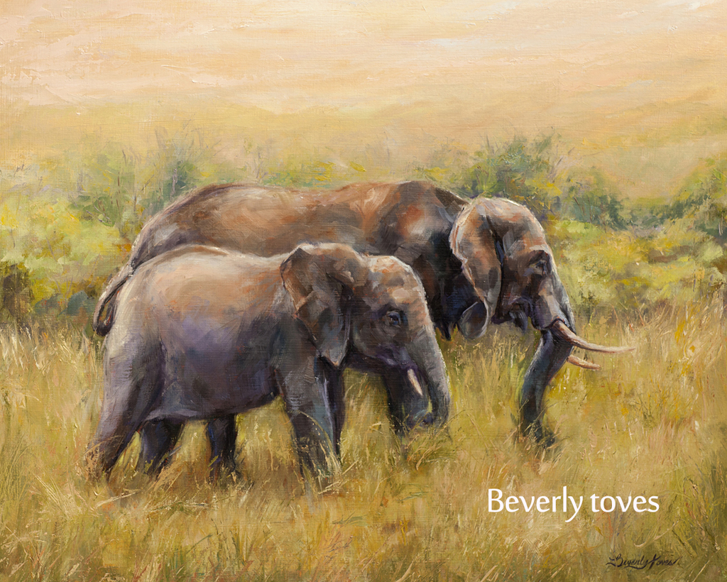 """African Elephants,"" by Beverly Toves."