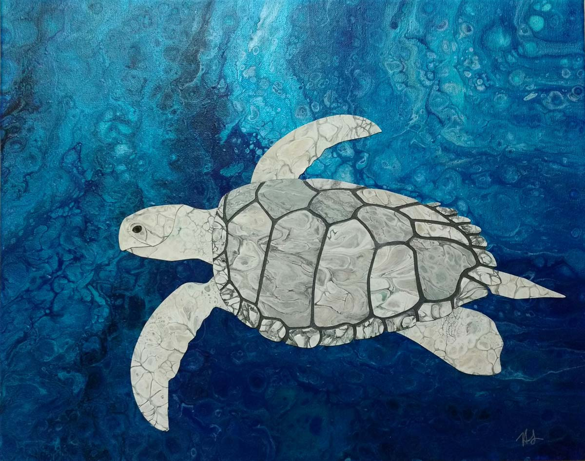 """""""Silver Sea Turtle"""" by Hailey Light"""