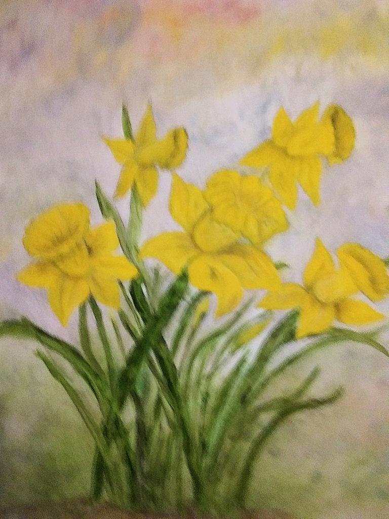 """""""Yellow Daffodil,"""" by Sarah Flinn."""