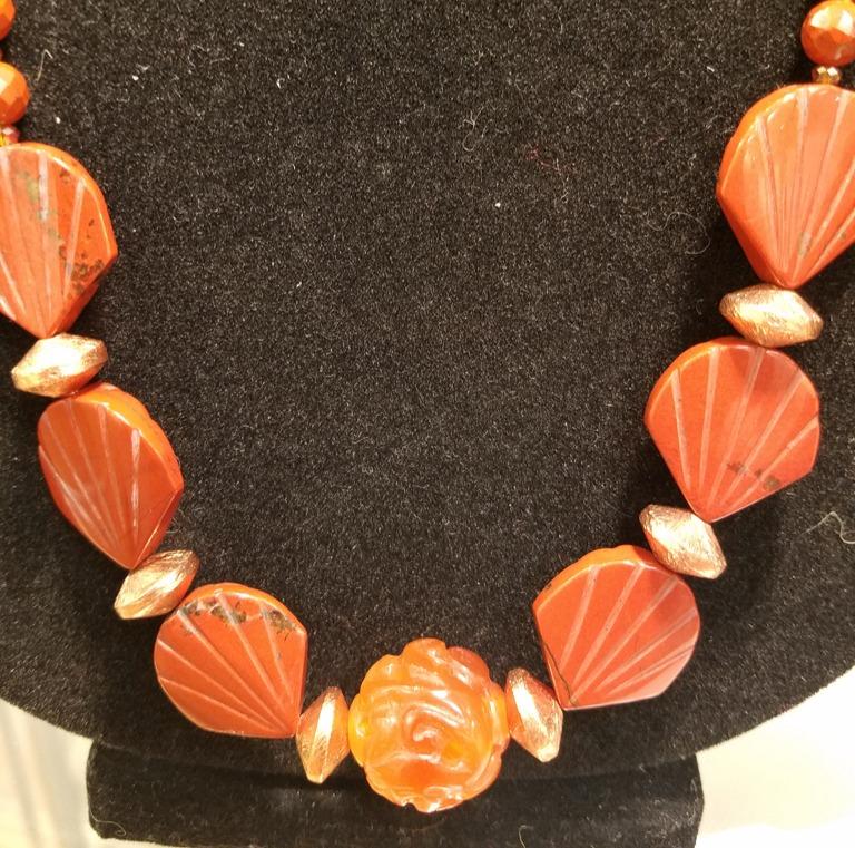 Coral Necklace, Liana Pivirotto