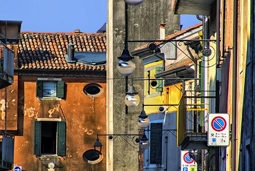 """""""Italian Street,"""" by Norma Woodward."""
