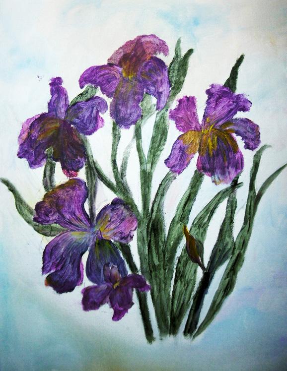Deep Purple Iris, Sarah Flinn