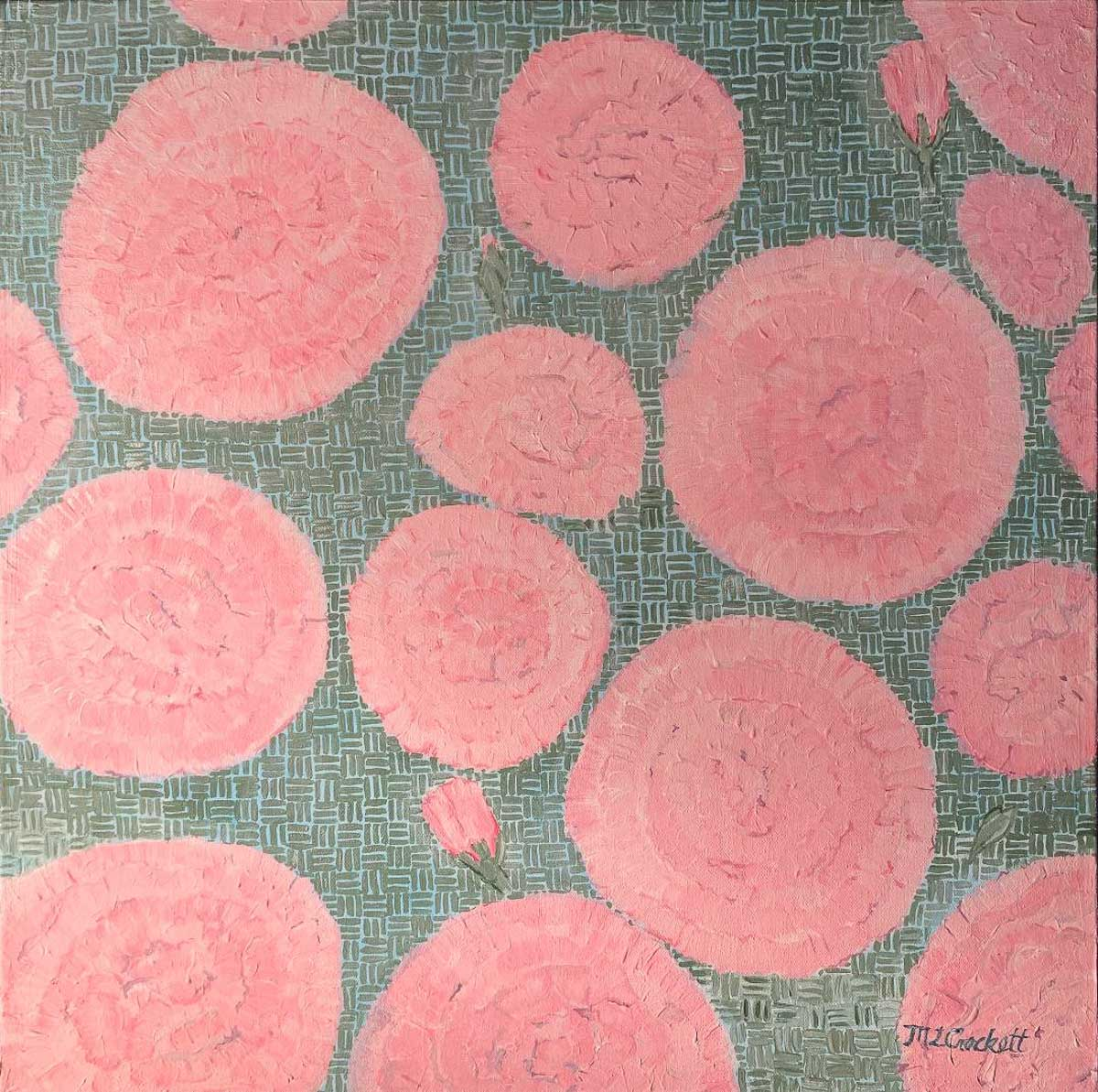 """Reflective Pattern - Carnations,"" by Megan Crockett."