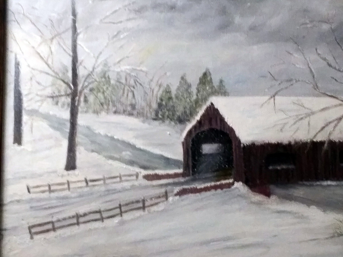 SarahFlinn_Covered Bridge_16x24_oil_$150