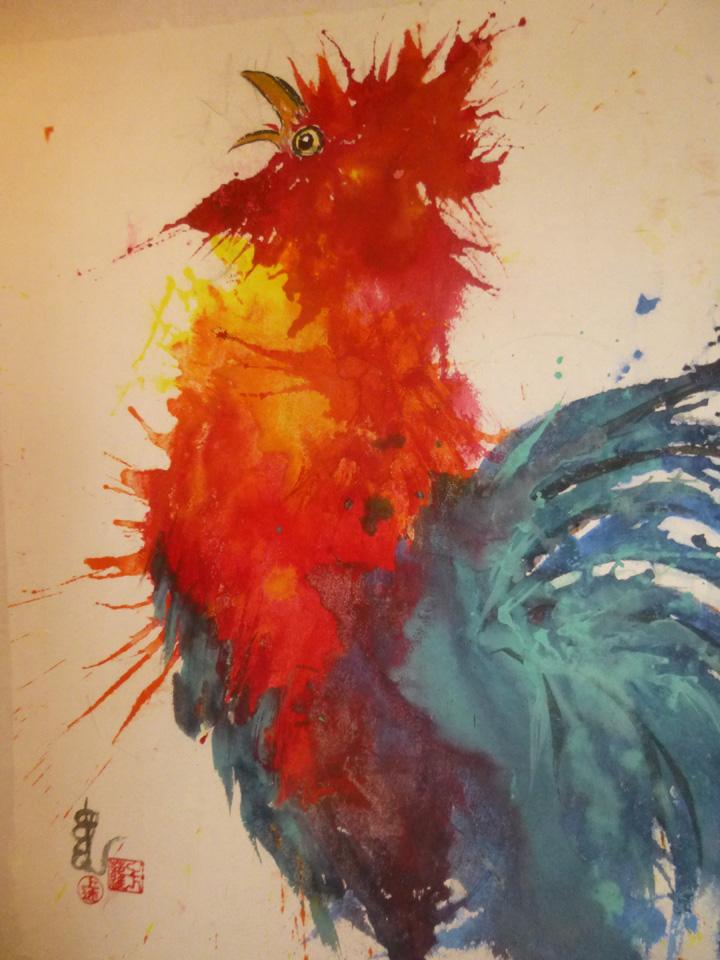 Rooster Splash, Carol Waite