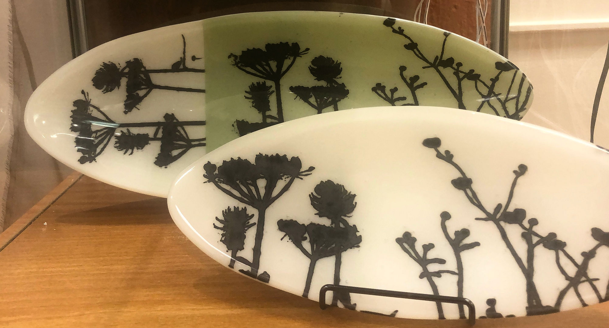"""Oval Fused Glass Trays,"" by Lisa Gillen."