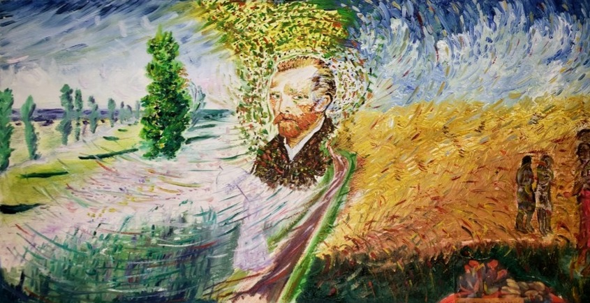 """Monet-VanGogh-Gaugin,"" by Medina Roberts."