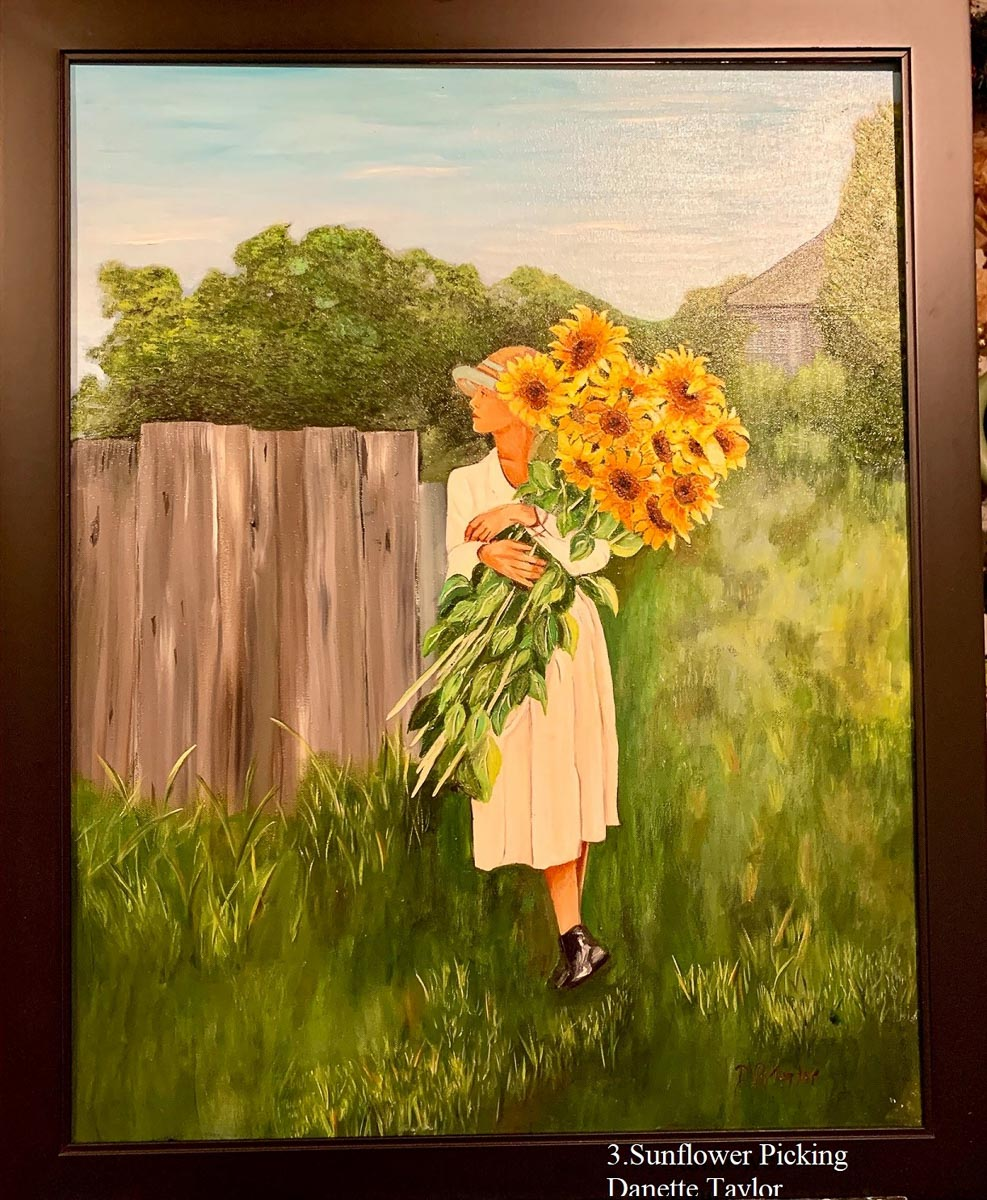 """Sunflower Picking"" by Danette Taylor"