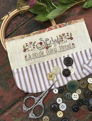 Shepard's Bush Sew, A Needle Pulling Thread Bag (Kit)