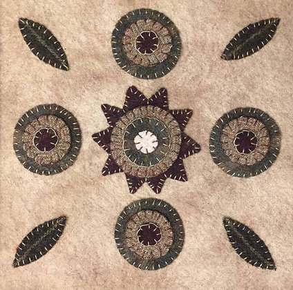 Pennies and Petals Wool Applique Pattern