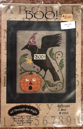 "All Through the Night ""Boo"" Cross Stitch"