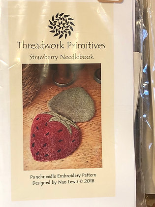 Threadwork  Primitives Strawberry Needlebook
