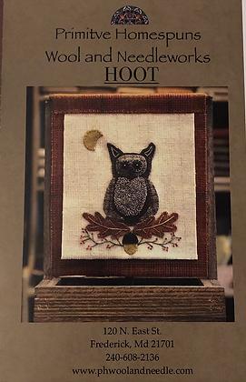 HOOT Wool Appliqué / Punch Needle Pattern