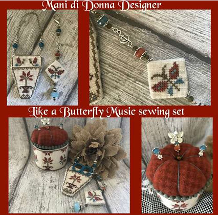 Mani Di Donna Like a Butterfly Music sewing set