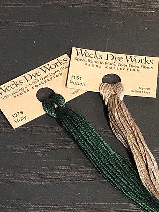 Weeks Dye Works Floss ~ Holly thru Pebble