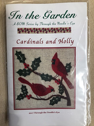 BOM Cardinals and Holly Pattern