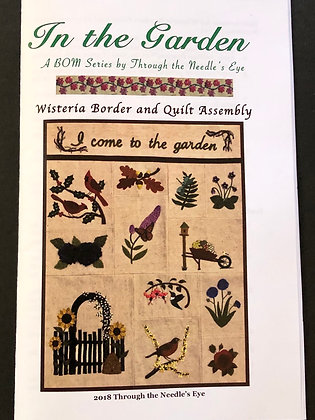 Wisteria Border and Quilt Assembly
