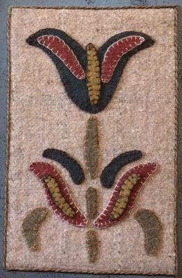 Fraktur Flower: Wool Applique Pattern