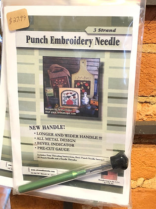 CTR 3 strand punch needle with larger handle
