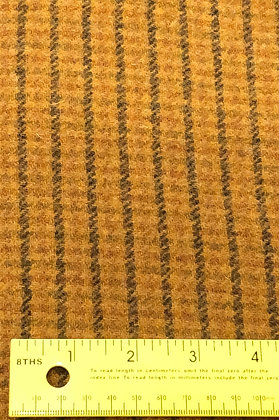 Small Mustard Plaid with Black Lines