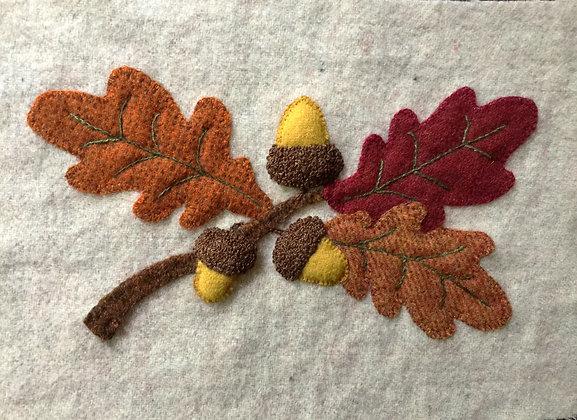 BOM Oak Leaves and Acorns Wool & Thread Kit