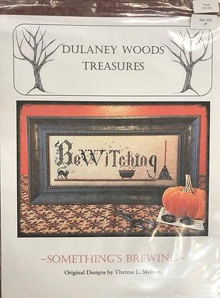 "Dulaney Woods Treasures ""Somethings Brewing "" cross stitch"