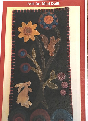 Folk Art Mini Quilt