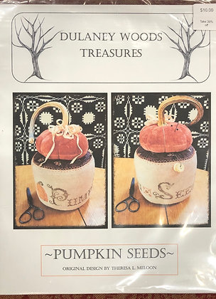 "Delaney Woods Treasures cross stitch ""Pumpkin Seeds"""